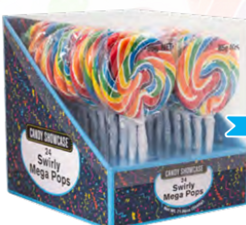 Mega Swirl Pop Rainbow 85g 1pc