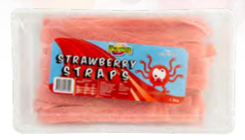 Strawberry Sour Straps 1.2kg