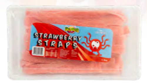 Strawberry Sour Straps 1.2kg