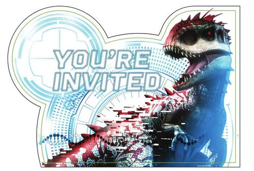 Jurassic World PCard Invites