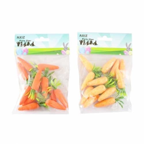 PK/12  6cm CARROTS IN POLYBAG W/ HEADER CARD