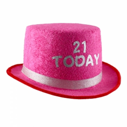 PINK TOP HAT W/ 21 TODAY