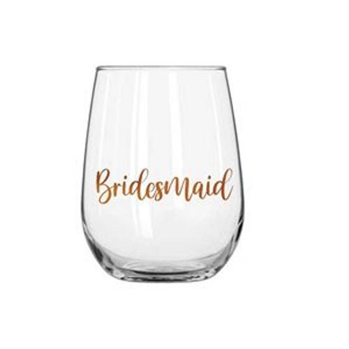 BRIDESMAID STEMLESS WINE ROSE GOLD
