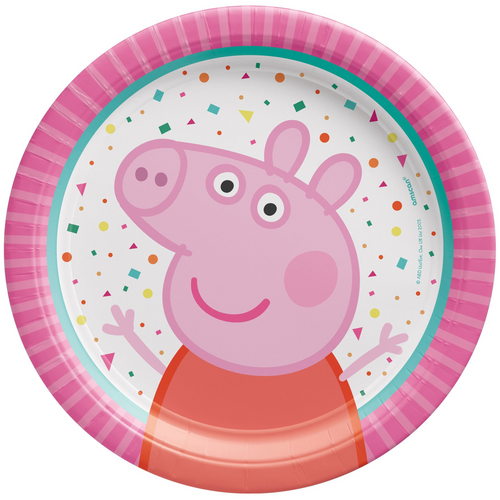 Peppa Pig CNF 7in/17cm Rnd Pla