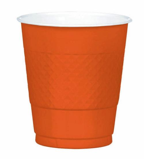 Plas Cup 355ml 20CT-Orange