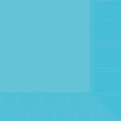 B/Napkin 20CT 2PLY-Carib Blue