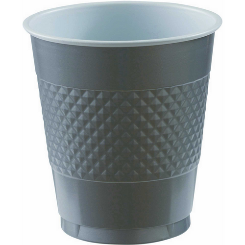 Plas Cup 355ml 20CT-Silver