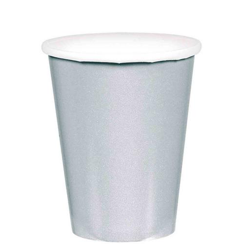 9oz/266ml Cups Ppr 20CT Silver