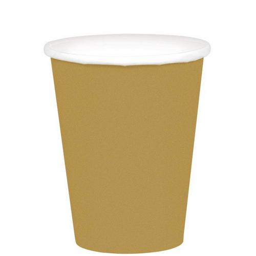 9oz/266ml Cups Ppr 20CT Gold