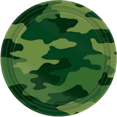 Camouflage 7in/17cm Rnd Plates