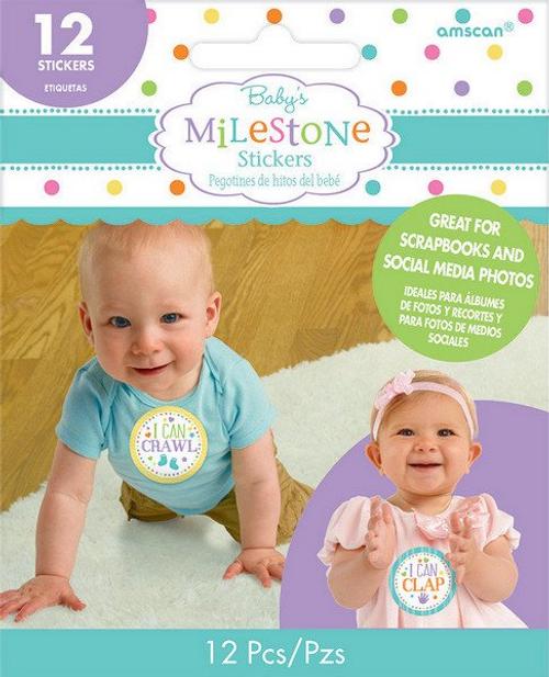 Baby Shwr Stckrs Milestone*