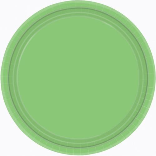 Ppr Plates 10.5in/26.6cm Rnd 20CT-Kiwi