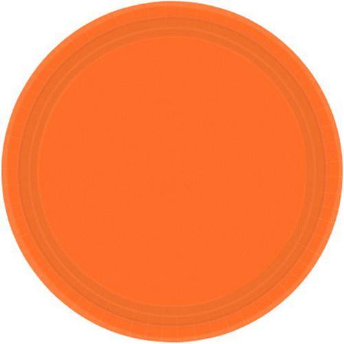 Ppr Plates 10.5in/26.6cm Rnd 20CT-Orange