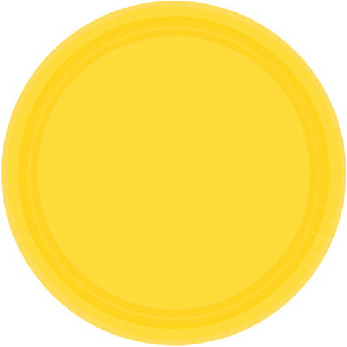 Ppr Plates 10.5in/26.6cm Rnd 20CT-Yellow