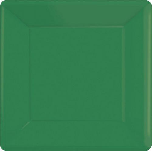 Ppr Plates 10in/26cm Squ 20CT-Festive Green