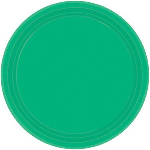Ppr Plates 10.5in/26.6cm Rnd 20CT-Festive Green