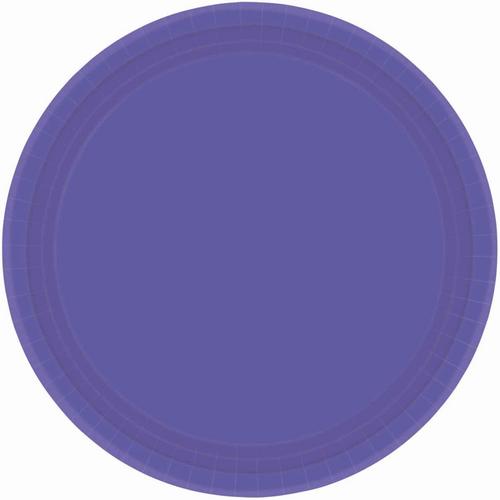 Ppr Plates 9in/23cm Rnd 20CT-New Purple