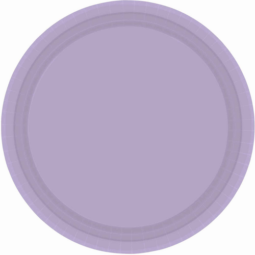 Ppr Plates 10.5in/26.6cm Rnd 20CT Lavender