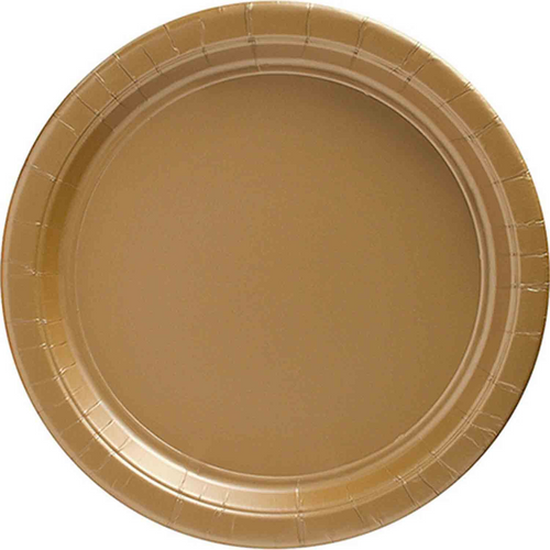 Ppr Plates 10.5in/26.6cm Rnd 20CT-Gold