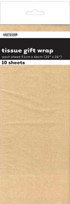 10 TISSUE SHEETS - KRAFT