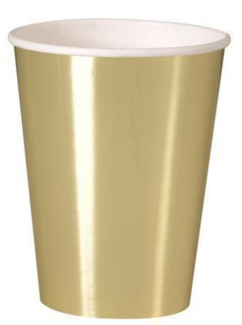 GOLD FOIL 8 x 9oz CUPS
