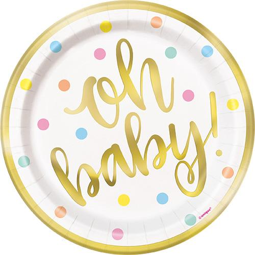 """OH BABY 8 x 7"""" FOIL PLATES"""