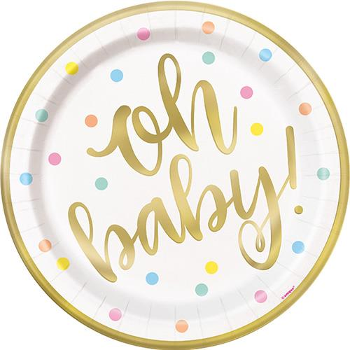"""OH BABY 8 x 9"""" FOIL PLATES"""