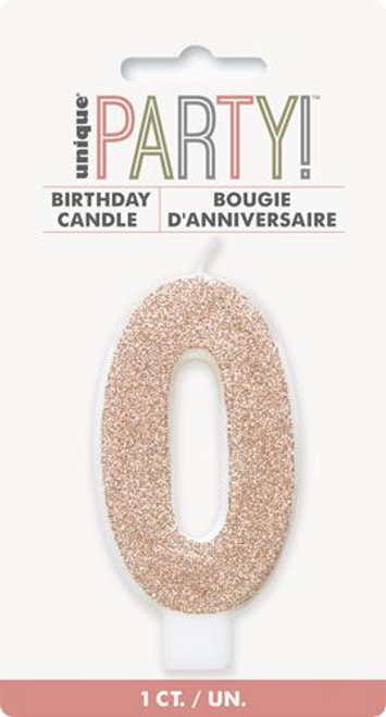 NUMERAL CANDLE 0 - ROSE GOLD