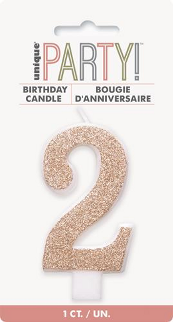 NUMERAL CANDLE 2 - ROSE GOLD