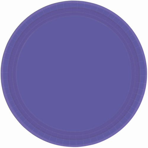 Ppr Plates 10.5in/26.6cm Rnd 20CT - New Purple