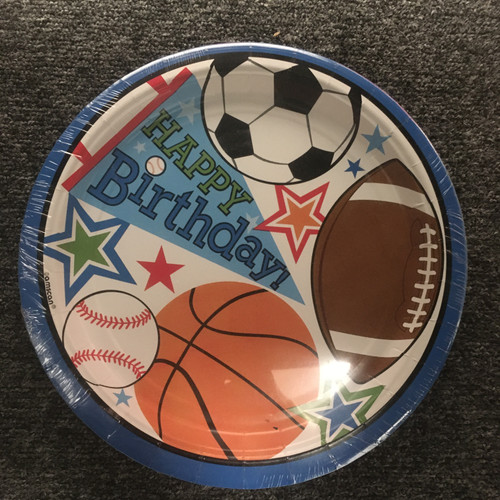 Sports Party VP 7in/17cm Rnd Plate