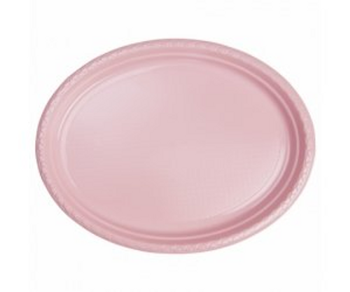 """FS Oval Large Plate 12"""" Classic Pink 25pk"""