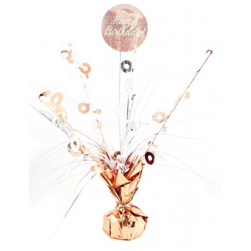 CENTREPIECE ROSEGOLD HBDAY
