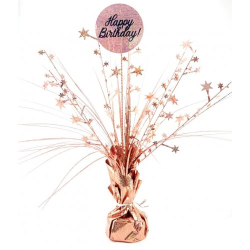 CENTREPIECE ROSEGOLD HOL HBDAY