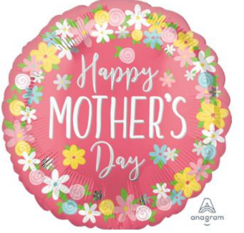 """18"""" Mother's Day Floral Wreath"""