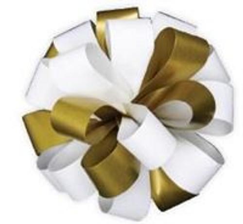 RIBB BOW DUO TONE GOLD/WHITE