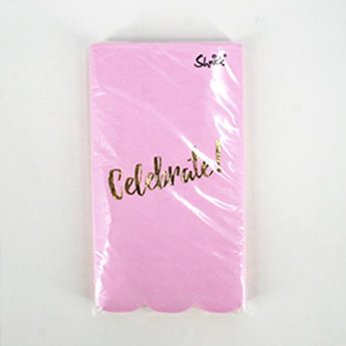 15pk 40x33cm 3ply Luxe Pink Celebrate Napkin