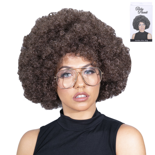 *BROWN AFRO WIG