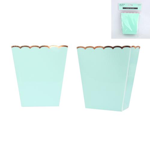 *6pk Mint Favour Box - 11cm Long & 9.5cm Wide (Top)