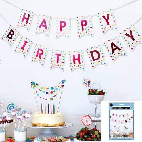 *Rainbow Dot Birthday Bunting