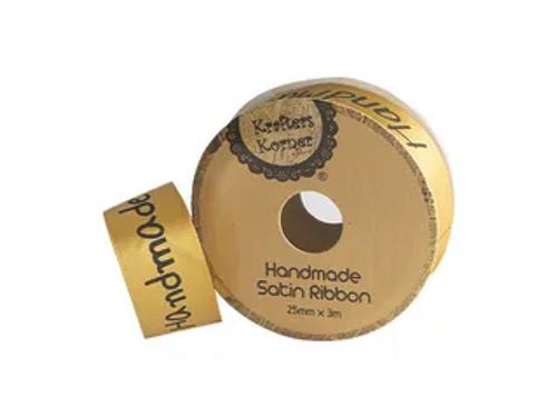 2.5CMX3M GOLD HANDMADE RIBBON