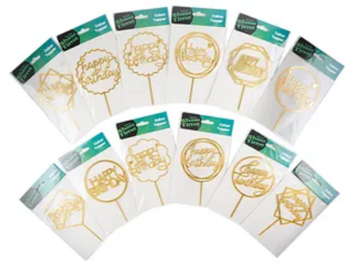 GOLD CAKER TOPPERS
