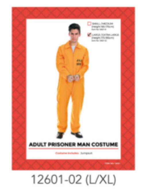 Adult Prisoner Costume (Orange) (L/XL)
