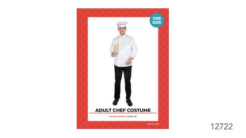 Adult Chef Jacket & Hat Costume