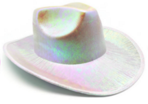 Metallic Cowboy Hat (White)