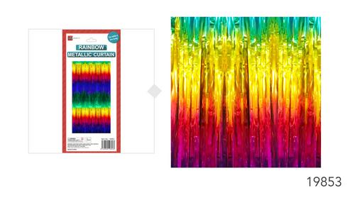 Deluxe Rainbow Metallic Curtain