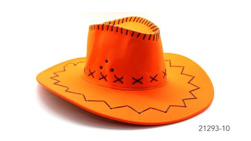 Fluro Cowboy Hat (Orange)
