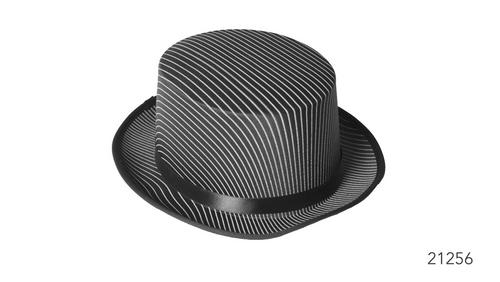 Pinstripe Gangster Top Hat