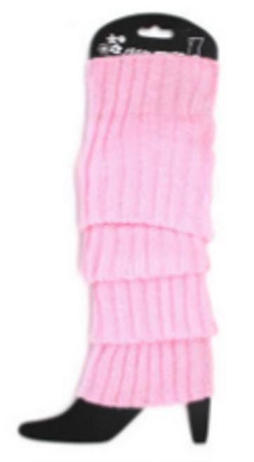 Plain Leg Warmer (Chunky Knit) (Pink)