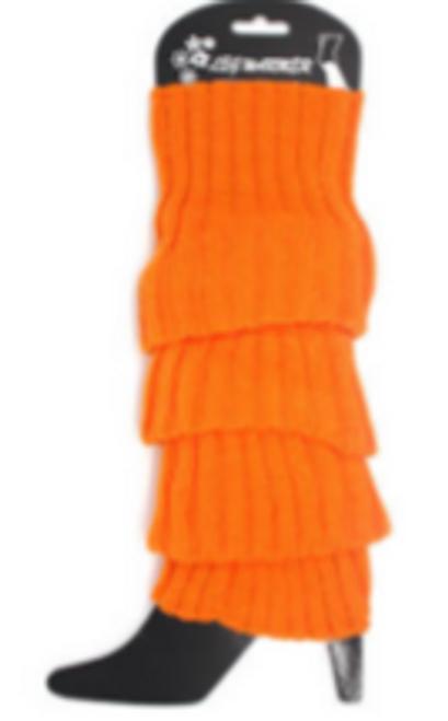 Plain Leg Warmer (Chunky Knit) (Orange)